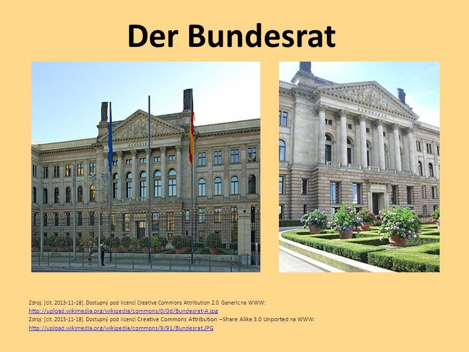 Der Bundesrat Zdroj: [cit. 2013-11-18]. Dostupný pod licencí Creative Commons Attribution 2.0 Generic na WWW: